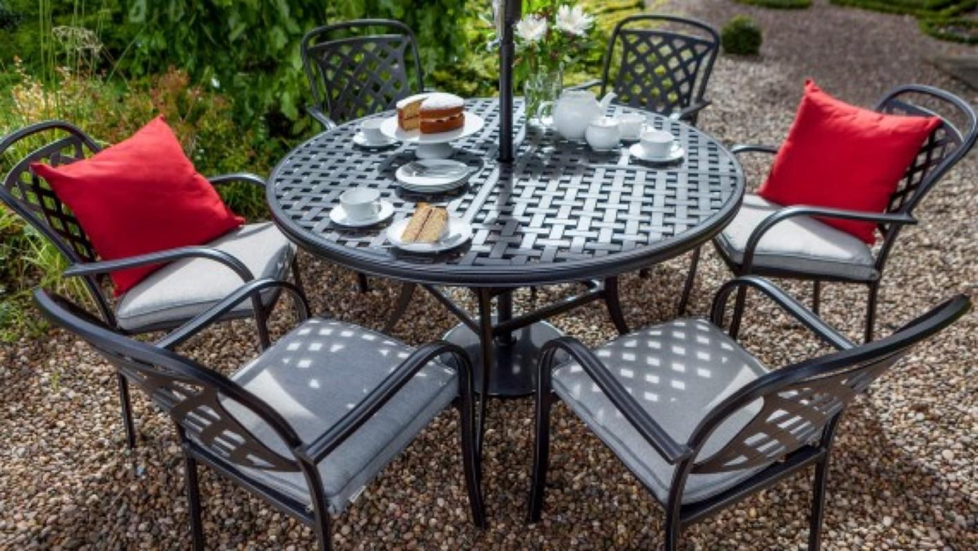Hartman Hartman Berkeley 6 Seat Round Garden Furniture Set ...